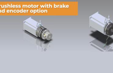 Brushless motor with brake and encoder option